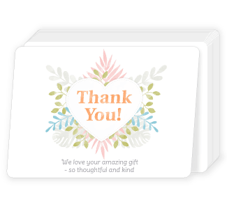 Packs of 20 Flat Personalised Cards at ASDA photo